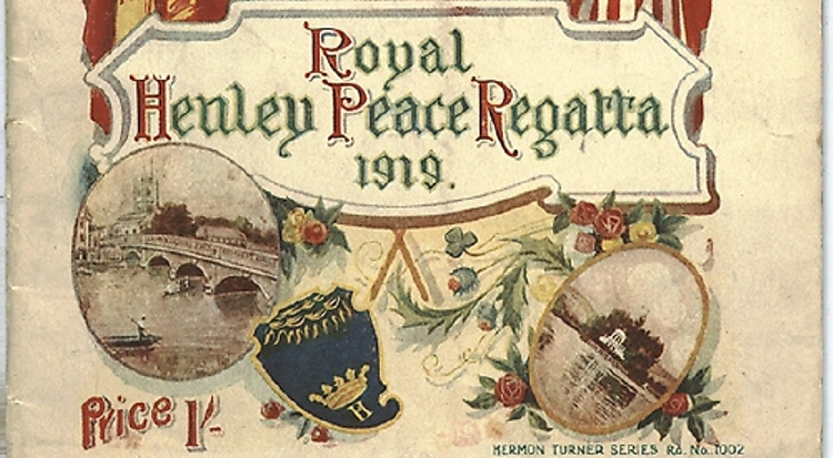Commemorating the centenary of the 1919 Royal Henley Peace Regatta