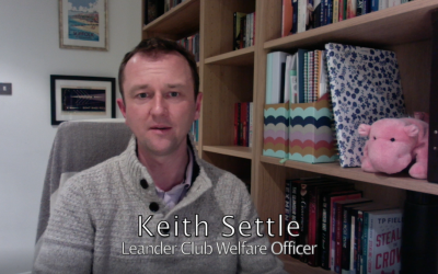 Leander Club Welfare Officer Keith Settle offers support